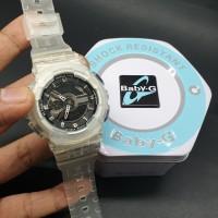 Jam Wanita Casio Baby G BA-110 List Black Transparant Ori Bm