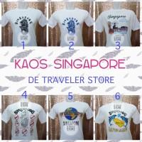Kaos Negara Singapore / Singapura - Putih, M