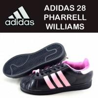 sepatu ADIDAS 28 PHARRELL WILLIAMS DOFF hitam plat pink