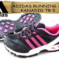 sepatu ADIDAS RUNNING 31 KANADID TR5 DOFF hitam pink