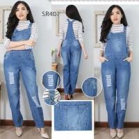 Baju Celana Kodok Overall Jumper Jumpsuit Jeans Big Size L XL 2XL 3XL