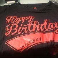 Birthday T-shirt JKT48 Beby Merah XL 2014
