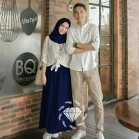 AGS Couple Natural maxi kemeja pakaian wanita pria