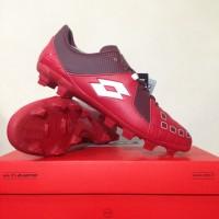 Sepatu Bola Lotto Squadra FG Dark Red White L01010011 Original BNIB