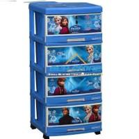 Lemari Plastik Napolly 4 susun Laci Frozen 4000 FROZ pasti murah