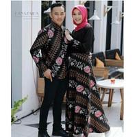 Baju Couple Muslimah Pria Wanita Batik Sutra High Premium Quality