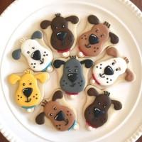 Dogs 1 / kukis hias / royal cookies / kukis karakter / icing sugar
