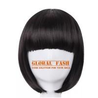 Wig bob hitam/ Wig pendek lurus / Wig Cosplay/ Rambut Palsu full