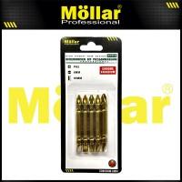 MOLLAR Mata Bor Obeng PH2 65 mm Plus Minus Screwdriver Bit Set - 1 Set