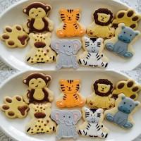 Hewan Hutan 2 / kukis hias / royal cookies / icing sugar