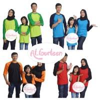 Baju kaos tshirt pasangan warna warni couple keluarga ayah ibu anak