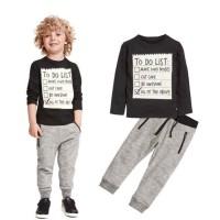 Baju setelan anak laki-laki keren dan lucu import /Setelan kasual anak