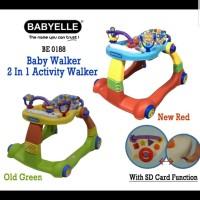 Baby Walker Babyelle 0188 2in1 Alat Bantu Jalan Anak