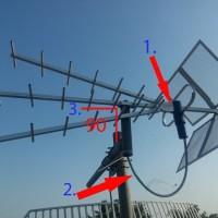 SALE!!! Antena DVB UHF TV Digital merk TITIS super peka, anti rontok