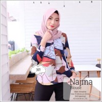 NAHLA BLOUSE MONALISA(premium quality) pattern shirt Monalis