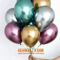 balon metalik Chrome/ balon mengkilap/ metalic balloon chrome 12 inch