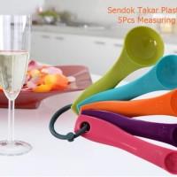 AD128 Sendok Takar Plastik Warna 5Pcs Measuring Gram Spoon Baking Tool
