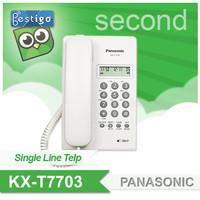 Pesawat Telepon Panasonic KX-T7703 Display Single Line Analog Second