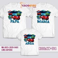 Jual Baju Kaos Couple Keluarga | Kaos Family Ultah Tayo NW 764
