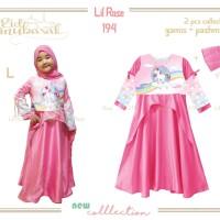 Baju Muslim/Gamis Anak UNICORN: LR 194 L - UNICORN RAINBOW (2-7 Tahun)