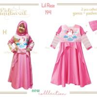 Baju Muslim/Gamis Anak UNICORN : LR 194 H - UNICORN CLOUD (2-7 Tahun)