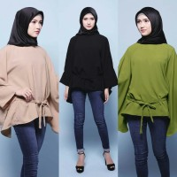 BLOOMING FLARE BLOUSE baju muslimah atasan kerja wanita hijab murah