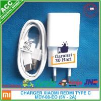Charger Adaptor Xiaomi Redmi Note 7 Original 100% USB Type C 5V 2A - Putih