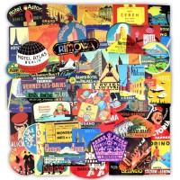 Stiker Koper Rimowa Retro Hotel City Travel Premium 55 Pcs