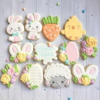 butter cookies dengan icing | kukis hias easter / paskah 2