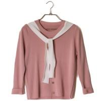 Baju Kaos Lengan Panjang Wanita Pink Loose Tie Import Original