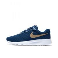 Sepatu Sneakers Nike Tanjun GS Blue Void Original 818381-406
