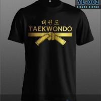 KAOS COMBED 30S Taekwondo Baju Seni Bela Diri Fighter BAJU TSHIRT