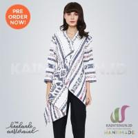 Blazer Batik Wanita Kain Tenun Ikat Blanket Troso Handmade - BLAZ012