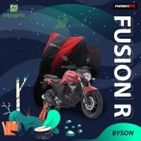 COVER MOTOR YAMAHA BYSON PREMIUM QUALITY / SARUNG MOTOR FUSION R - Hitam