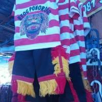 satu set baju reog Ponorogo anak umur 4-7 tahun