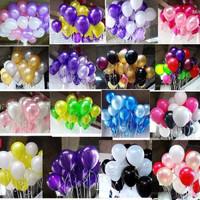 Balon isi 50 Pcs Latex Metalik / Balon Warna Warni / Balon Metalik