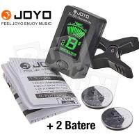 Tuner Joyo JT-01 Clip-on Tuning Alat Stem Gitar Bass Bonus 2 Batere