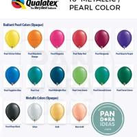 16 Metallic / Pearl Color Qualatex USA | Balon Latex Jumbo 16 inch