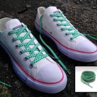 Tali Sepatu Vans And Converse Chekerboard Green White