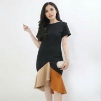 Baju Atasan Wanita Maxi Drees SELIN COMBI Scuba Premium