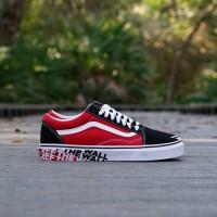 Sepatu Vans Old Skool OTW Sidewall Red Black Original 100% BNIB!