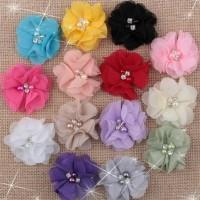 bunga sifon mutiara/kain sifon/bros sifon/aplikasi baju/hiasan jilbab