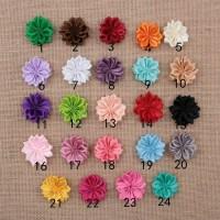 bunga rempel mini polos/bahan bros/aplikasi jilbab/pita satin