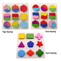 Puzzle Kayu / Puzzle Chunky Bentuk / Puzzle Chunky Shape