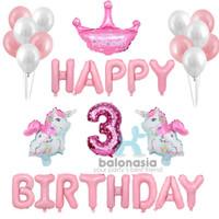 Dekorasi Set Ulang Tahun Anak Unicorn HBD / Baby Girl - 2