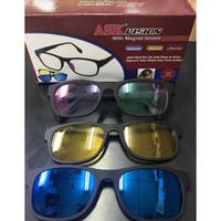 Kacamata Ask Vision 3in1 Magnet Magic HD Vision Lenses / Kacamata 3in1