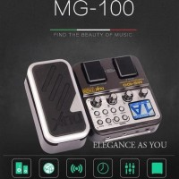Murah Nux Pedal Efek Gitar Synthesizer Processor - Mg-100 - Black