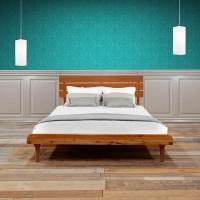 LIVIEN FURNITURE - Tempat Tidur - Bed Maple Aquilla Queen