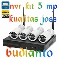 NEW PAKET CCTV NVR KIT 5 MP 4 CHANEL+HARDISK 2 TB GRANSI 1 TAHUN