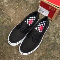 Vans zapato Del barco black white ( sepatu vans / sepatu santai )
